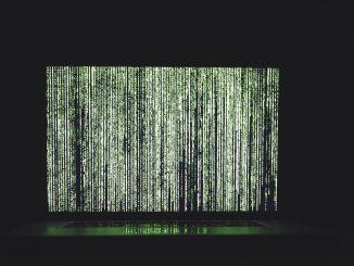 Laptop showing data waterfall